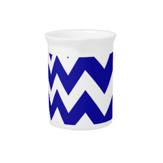 Blue Fast Lane Chevrons Drink Pitchers