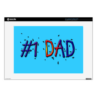 """Blue Father's Day #1 Dad 15"""" Laptop Skin"""