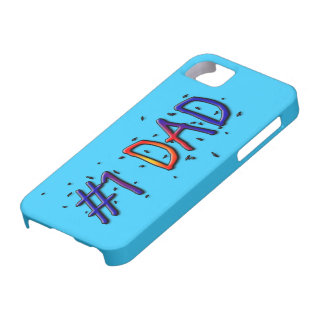 Blue Father's Day #1 Dad iPhone 5 Covers