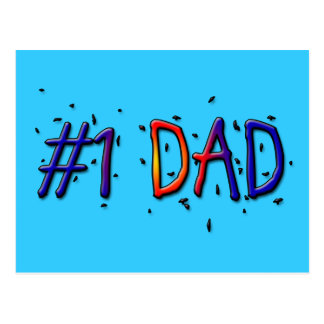 Blue Father's Day #1 Dad Postcard