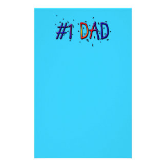 Blue Father's Day #1 Dad Stationery