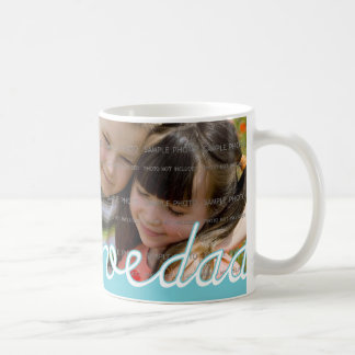 Blue Father's Day Personalized Mugs with Photo