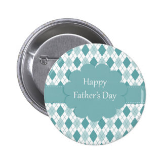 Blue Father's Day Pinback Button