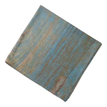 Beach Themed Blue Faux Beach Wood Texture Bandana