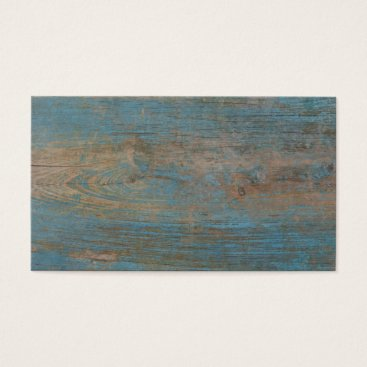 Beach Themed Blue Faux Beach Wood Texture Business Card