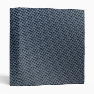 Blue Faux Carbon Fiber Patterned Binder