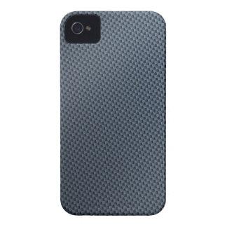 Blue Faux Carbon Fiber Patterned iPhone 4 Cover