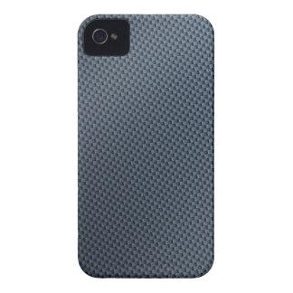 Blue Faux Carbon Fiber Patterned Blackberry Bold Cases