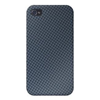 Blue Faux Carbon Fiber Patterned Covers For iPhone 4