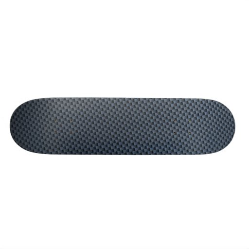 Blue Faux Carbon Fiber Patterned Skateboard Decks