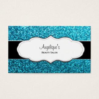 Blue Glitter Business Cards & Templates