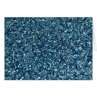 BLUE (faux) GLITTER Card