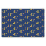 [ Thumbnail: Blue, Faux Gold 41st (Forty-First) Event Tissue Paper ]