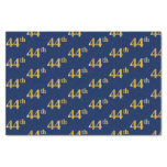 [ Thumbnail: Blue, Faux Gold 44th (Forty-Fourth) Event Tissue Paper ]