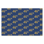 [ Thumbnail: Blue, Faux Gold 46th (Forty-Sixth) Event Tissue Paper ]