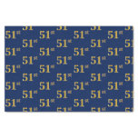 [ Thumbnail: Blue, Faux Gold 51st (Fifty-First) Event Tissue Paper ]