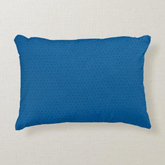 Blue Faux Leather Vintage Look Decorative Pillow