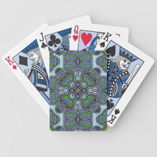 Blue Faux Nouveau Playing Cards