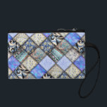 """Blue Faux Patchwork Quilting Pattern Coin Wallet<br><div class=""""desc"""">At *I Got Your Back(ground)* Store, you&#39;ll find decorative backgrounds of many kinds, ready for you to add your personal text or photo! Please Click the - IGOTYOURBACK - tag listed below or visit this store for a view of all categories of products and designs available. Contact me for information...</div>"""