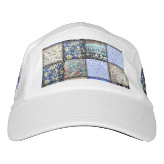 Blue Faux Patchwork Quilting Pattern Headsweats Hat