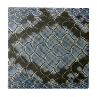 blue faux snakeskin pattern horizontal ceramic tile