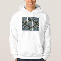 blue faux snakeskin pattern horizontal hoodie