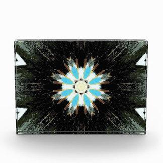 blue feather arrowheads star-burst acrylic award