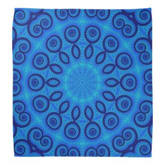 blue feather bandana