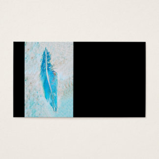blue feather business card template