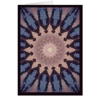 Blue Feather Drum Greeting Cards