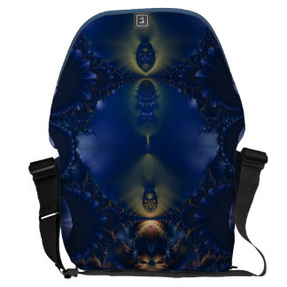 Blue Feather Jewels Courier Bag