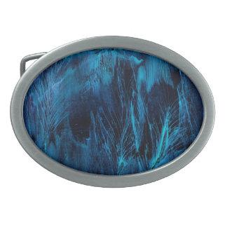 Blue Feathers Belt Buckle