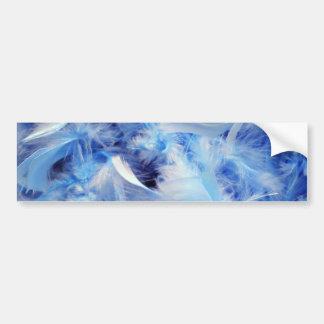 Blue feathers bumper sticker
