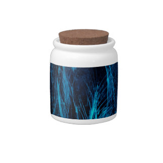 Blue Feathers Candy Jar