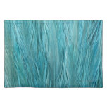 Blue Feathers Cloth Placemat