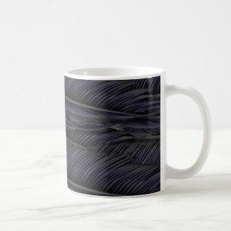 Blue feathers coffee mug