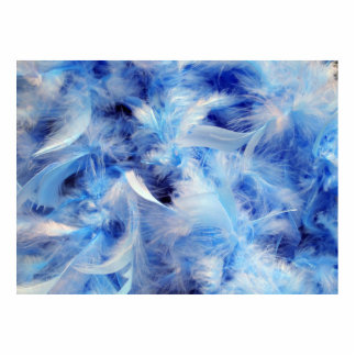 Blue Feathers Cutout