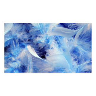 Blue Feathers Double-Sided Standard Business Cards (Pack Of 100)