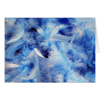Blue Feathers Greeting Cards