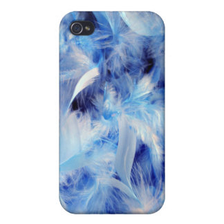 Blue Feathers iPhone 4 Case
