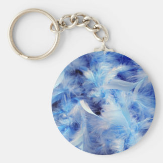Blue feathers keychain