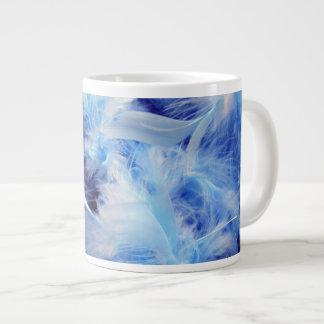 Blue Feathers Large Coffee Mug