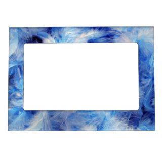 Blue Feathers Magnetic Frame