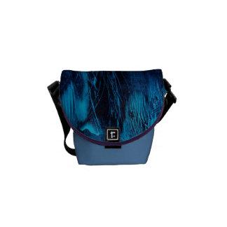 Blue Feathers Messenger Bag