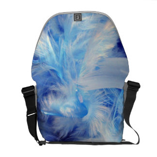 Blue Feathers Messenger Bags