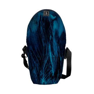 Blue Feathers Mini Messanger Bag