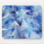 Blue Feathers Mouse Pad