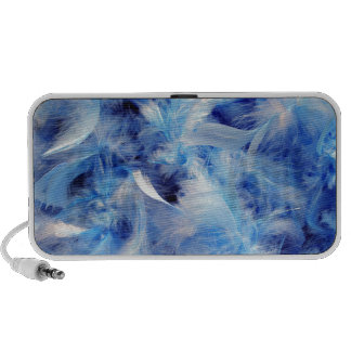 Blue Feathers Notebook Speakers