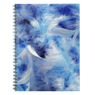 Blue Feathers Spiral Note Books