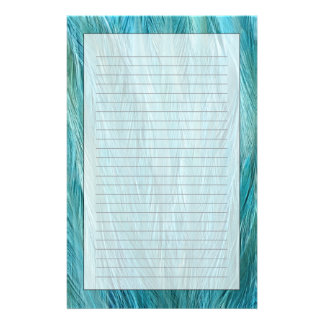 Blue Feathers Personalized Stationery